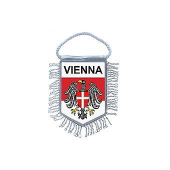 Fanion Mini Drapeau Pays Voiture Decoration Souvenir Blason Vienne Autriche