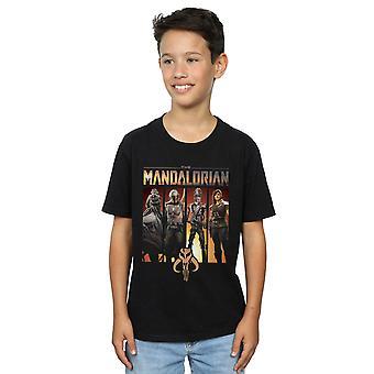 Star Wars Jungen die mandalorianischen Charakter Lineup T-Shirt