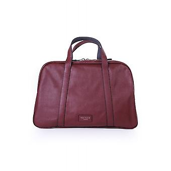 Ted Baker Mens Traves Leather Holdall