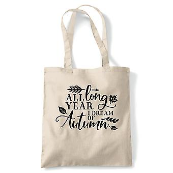 Tout au long de l'année, Fourre-tout - Automne Automne Reusable Canvas Bag Cadeau