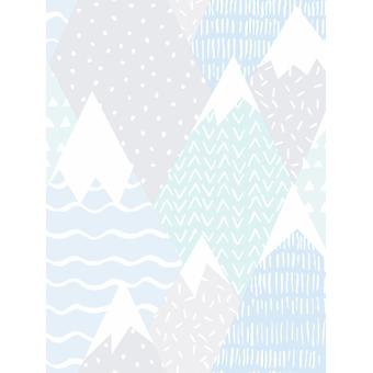 Over the Rainbow Mountains Wallpaper Teal Holden 91052