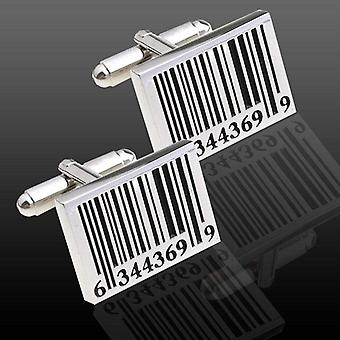 Bar code online sales theme stainless steel cuff links