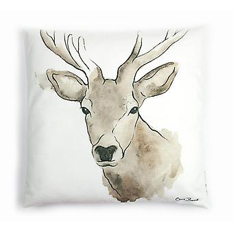 Highland Collection - Highland Stag Cushion by Clare Baird