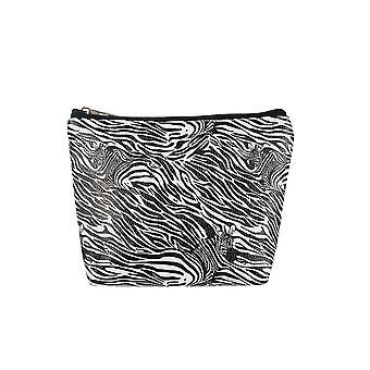 Jewelcity Womens/Ladies Zebra Camo Print Large Makeup Bag