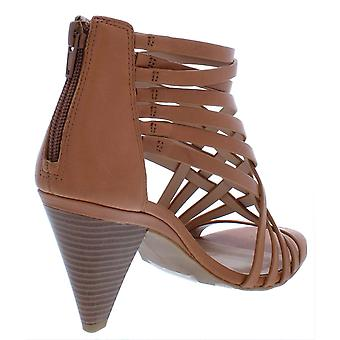 INC Womens Garold Leather Open Toe Heels