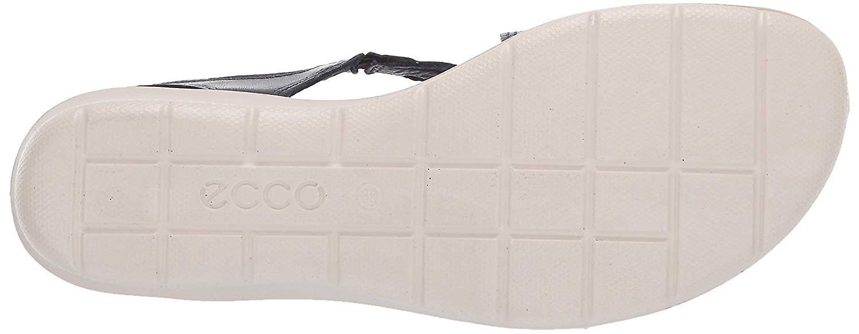 ECCO Womens Felicia Canvas Open Toe Walking Platform Sandals