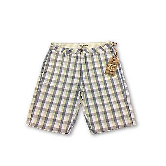 Tailor Vintage shorts in green and navy check
