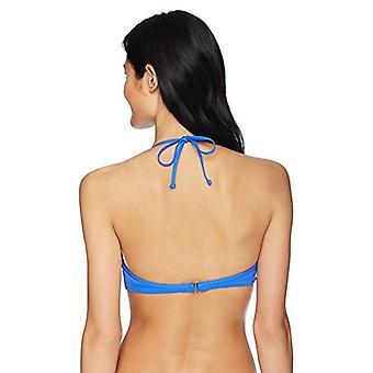 Hobie Junior's Underwire Ruffle Bralette Bikini Swimsuit Top, Cobalt, Large