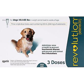 Revolution For Dogs 44-88lbs (20-40kg) - 3 Pack