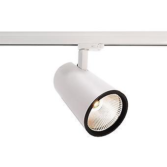 LED 3-fasen Rail Spotlight Luna 40 40W 3000K 40 ° wit dimbaar