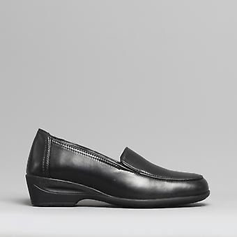 Dr Keller Sally Ladies Leather Shoes Black