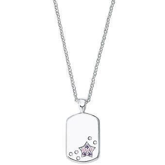 Princess Lillifee Kids Kids Necklace Silver Star Engraving Plate 2027207
