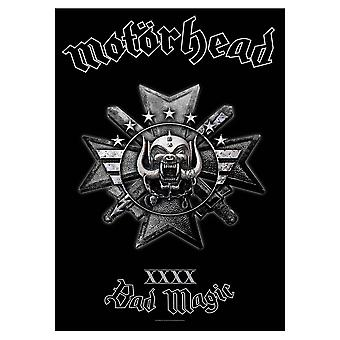 Motorhead Poster Bad Magic Logo Official New Black Textile Flag 70cm x 106cm