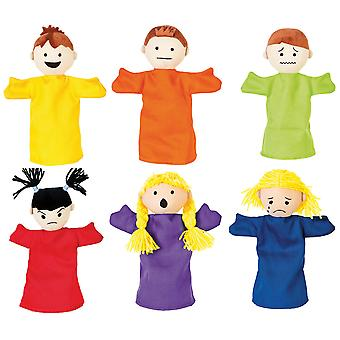 Emotional Puppets set of 6 Sensory Development Educational Early Learn