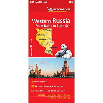 Western Russia  Michelin National Map 805