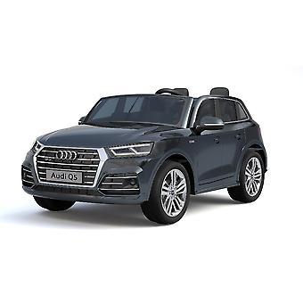 Carro elétrico infantil Audi Q5 S-Line, dois lugares, pneus EVA, amortecedor de assento de couro