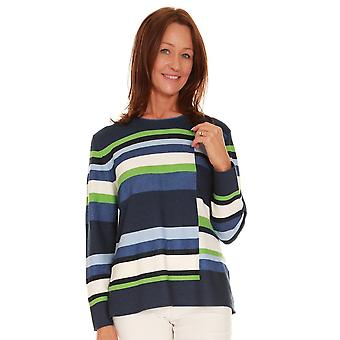 RABE Rabe Blue Et Green Sweater 44 012682
