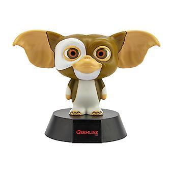 Gremlins 3D Leuchte Icon Light Gizmo schwarz/braun, bedruckt, aus Kunststoff, mit LEDs, im Sichtkarton.