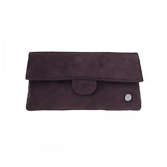 Peter Kaiser Purple Suede Fold Over Handbag