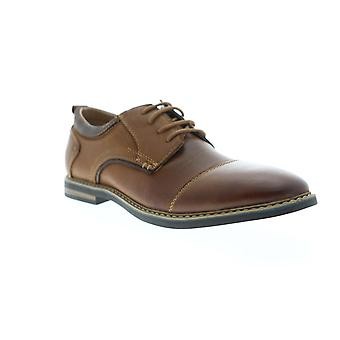 Steve Madden mens Brown Leather casual Lace up Oxford schoenen