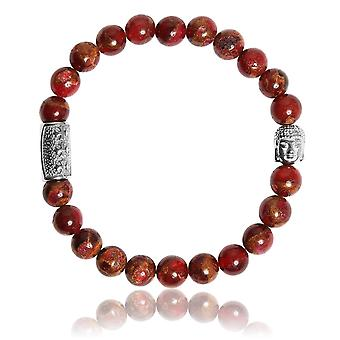 Lauren Steven Design ML076 Bracelet - Jaspe Red Men's Natural Stone Bracelet