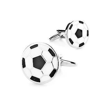 Fodbold sport manchetknapper sølv tone nyhed bryllup brithday gave