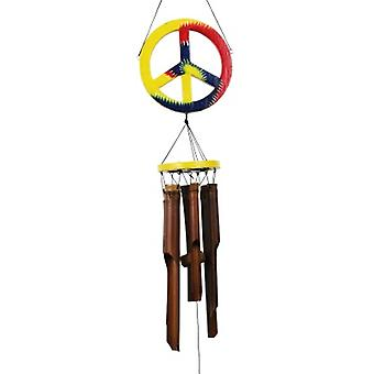 Peace Sign Bamboo Wind Chime