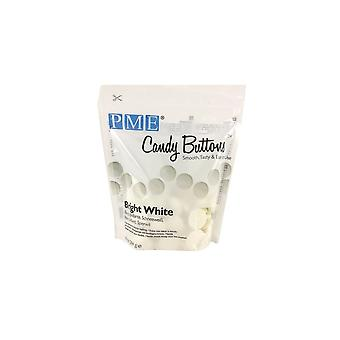 PME Candy Buttons Melts - 10oz 284g - Bright White