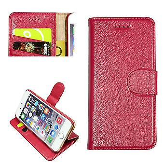 IPhone SE (2020), 8 & 7 lompakko tapauksessa, muoti cowhide kestävä aito nahkakansi, vaaleanpunainen