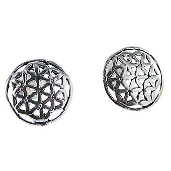 Studs 23 flower of life - silver
