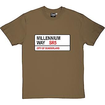 Sunderland AFC: Millennium Way SR5 Road Sign Military Green Men-apos;s T-Shirt