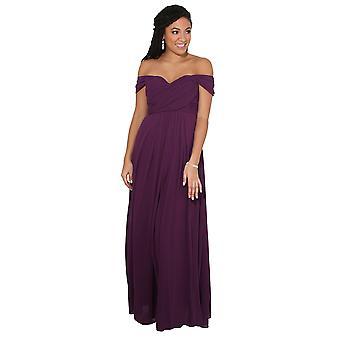 KRISP vrouwen Prom maxi jurk op uit schouder bal toga avond bruiloft lange partij