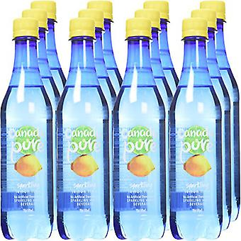 Canada Pure Sparkling Water Limone Lime-( 445 Ml X 12 )