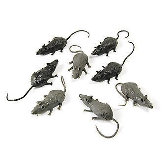 Bristol Novelty Plastic Mice (Pack Of 8)