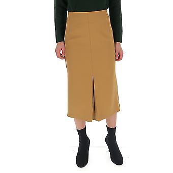 Victoria Beckham 31106itan Women-apos;s Beige Wool Jupe