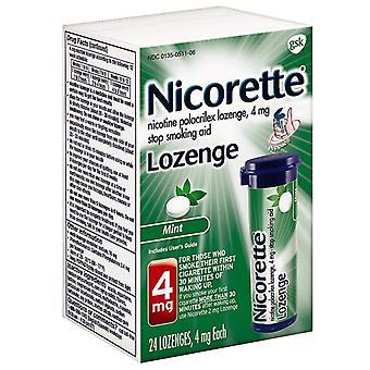 Nicorette lozenge, 4 mg, mentă, 24 ea