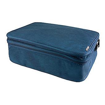 Asiakirjalaukku, jossa 13 lokeroa - Tummansininen