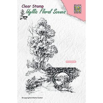 Nellie's Choice Clearstamp - Scene with stream and bridge IFS011 81x112mm