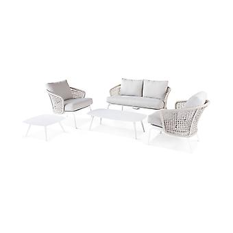 Beach7 | Latice 5-delige loungeset |  Wit | loungesets