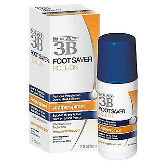 Neat feat foot saver roll‑on antiperspirant deodorant, 2 oz