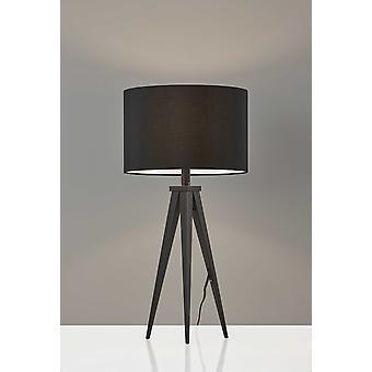 "14 ""x 14"" x 28 ""מנורת שולחן מתכת שחורה"