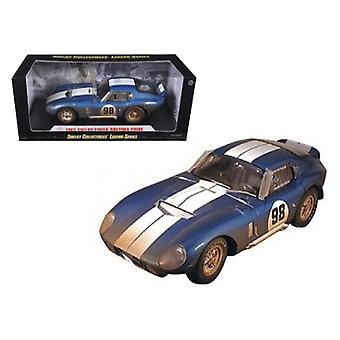 1965 Shelby Cobra Daytona #98 After Race Dirty Version Diecast Car Model 1/18 By Shelby Collectibles