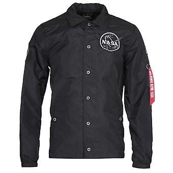 Alpha Industries NASA Svart Coach Jacka