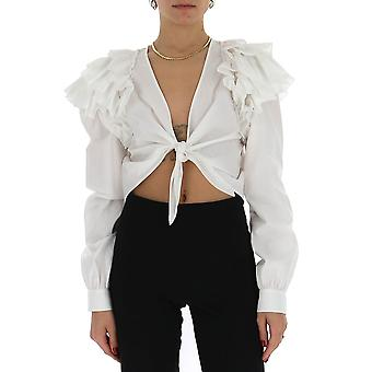 Amen Ams20207001 Kvinnor's vit bomullsskjorta