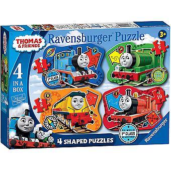 Ravensburger Thomas & Friends 4 Shaped (4, 6, 8, 10pc) Jigsaw Puzzles