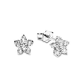 Amor Women's earrings silver stars 925 rhodium with white zircons ? 381895