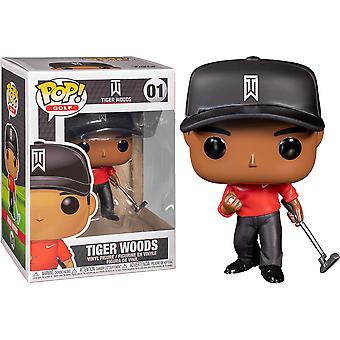 Golf Tiger Woods Red Shirt Pop! Vinyl