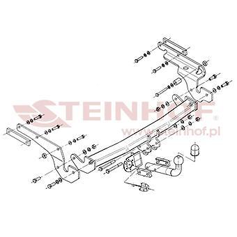 Steinhof Towbar (fixiert 2 Schrauben) für Toyota YARIS 2006-2011