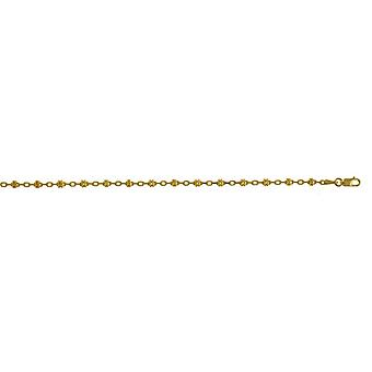 14k Yellow Gold Fancy Anklet 9.5 Inch Jewelry Gifts for Women - 4.5 Grams
