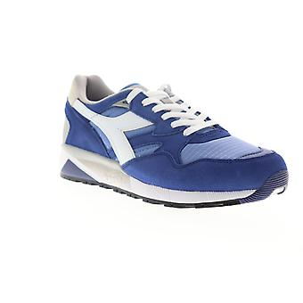 Diadora N9002  Mens Blue Suede Lace Up Low Top Sneakers Shoes